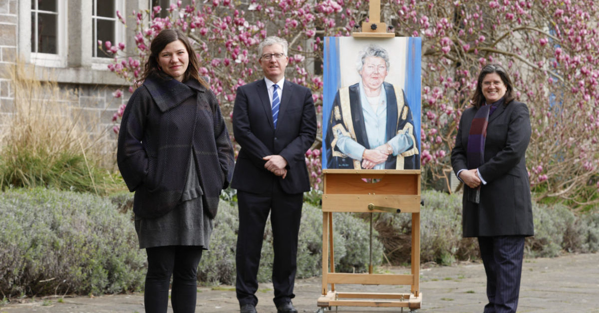 """DCU unveils commissioned portrait of Ms. Justice Mella Carroll: A """"woman of many firsts"""""""